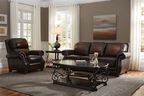 standard furniture somoa  piece leather sofa living room