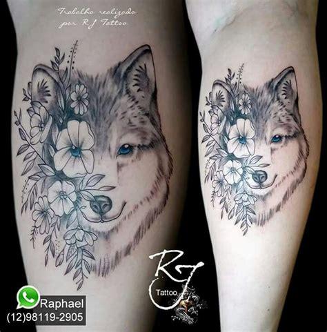 tatuagem lobo tattoo lobo com flores tatuagens rj