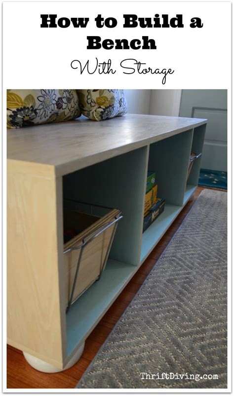 how to make a bench with storage how to build a bench with storage