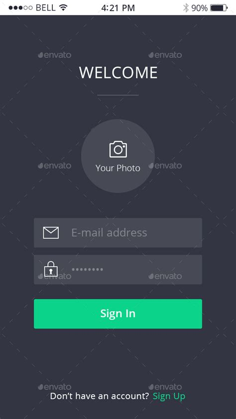 login from mobile apps login mobile login forms by noduthemes graphicriver