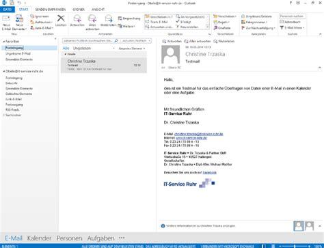 Schreiben Termin Muster aus einer e mail in outlook einen termin oder eine aufgabe