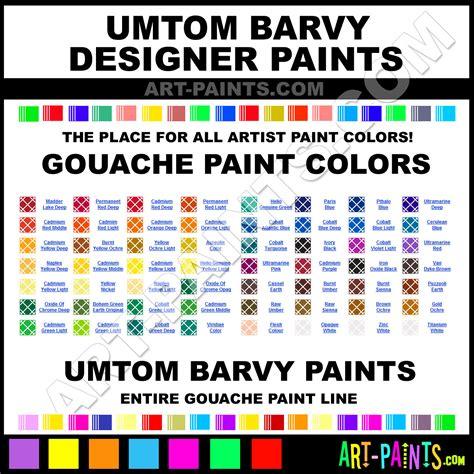 paint colors designers umton barvy designer gouache paint colors umton barvy