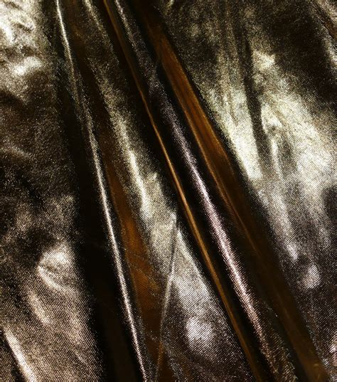 metallic fabric tricot lame gold black at joann com