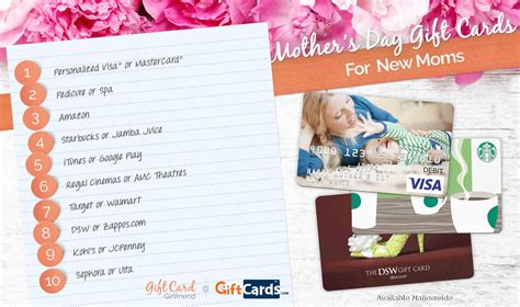 top 10 mother s day gift cards for new moms gcg - Gift Cards For Mom