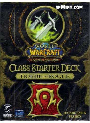 Rogue Starter Deck by Inmint World Of Warcraft Class Starter Deck Horde