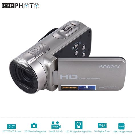 full hd video camera andoer hdv 312p digital video camera full hd 1080p 16x 20