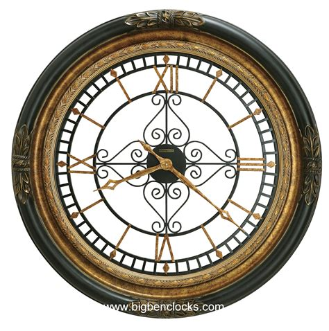 large wall clock howard miller wall clock 625 443 rosario