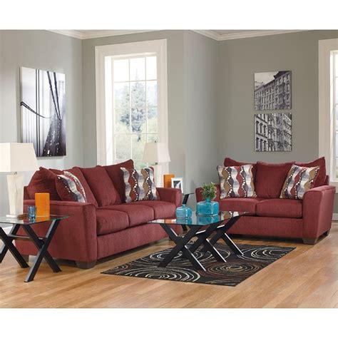 brogain burgundy living room set living room sets living room furniture living room