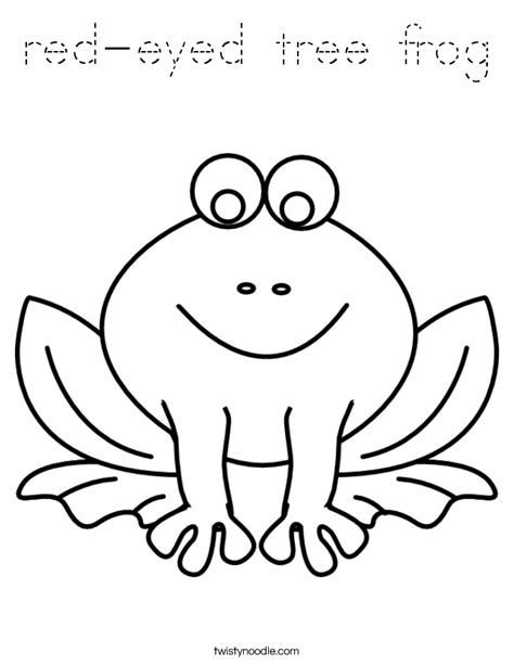 frog coloring page outline red eyed tree frog coloring page tracing twisty noodle