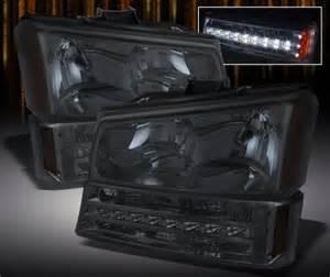 chevy silverado 2500 2003 2004 smoked headlights and