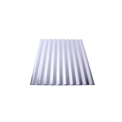 Decorative Metal Sheets Home Depot by Shop Fabral 2 1 2 In Corrugated 2 16 Ft X 12 Ft Corrugated