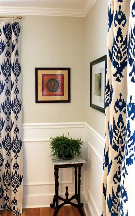 stenciled drop cloth curtains perking up a room with drop cloth curtains drop cloths
