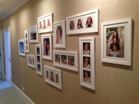 fotos an wand ideen ilevel family photo wall
