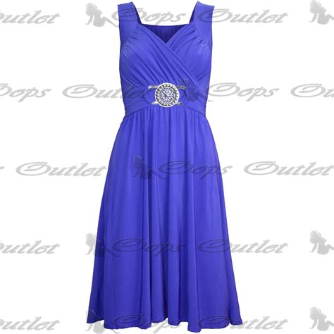 Clothes My Back 282008 by Womens Midi Dress Sleeveless Wrapover Silver Badge