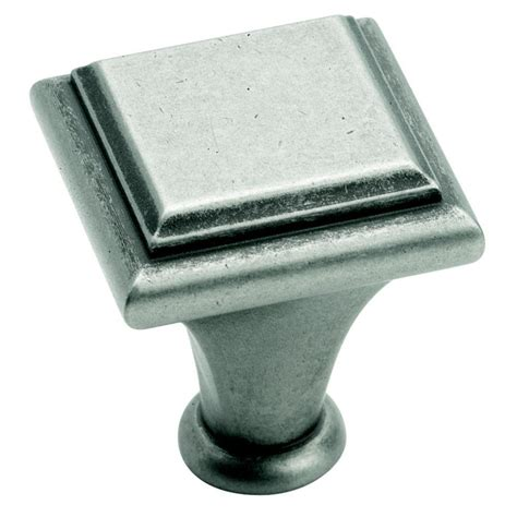 amerock square cabinet knobs amerock manor 1 in weathered nickel square cabinet knob
