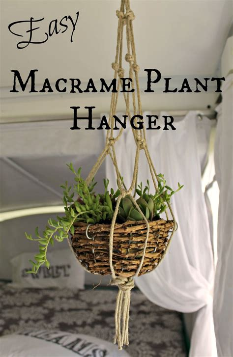 How To Make A Macrame Plant Hanger Easy - the farm diary finally a craft easy