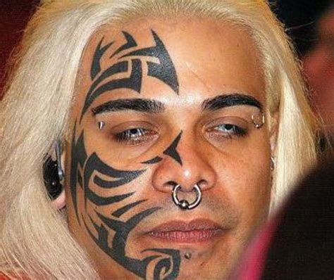 cool face tattoos mike tyson tribal cool tattoos