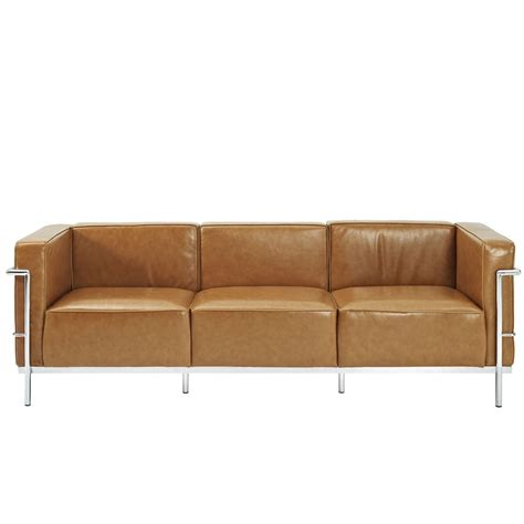 big leather couch simple large leather sofa modern furniture brickell