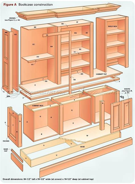 grand bookcase plans woodarchivist