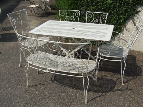 gs vintage french wrought iron garden bench