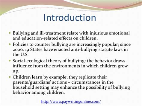 Effects Of Bullying Essay by Essay About The Effects War Has On A Family Cause And Effect Essay Writing Help Ideas Topics