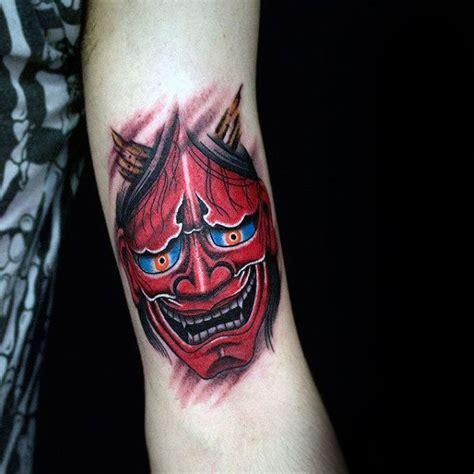 blue hannya mask tattoo 100 hannya mask tattoo designs for men japanese ink ideas