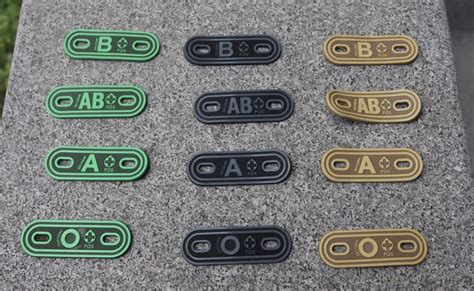 Rubber Pvc Patch Blood Type Ab Pos 1 מוצר a b ab o positive negative a b ab o pos pvc blood type patches a b o neg od