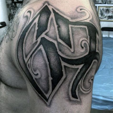 number tattoo on shoulder 70 number tattoos for men numerical ink design ideas