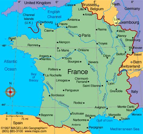 France Map   Infoplease