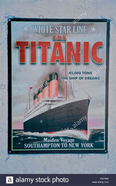 titanic boat poster a poster advertising the maiden voyage of the titanic