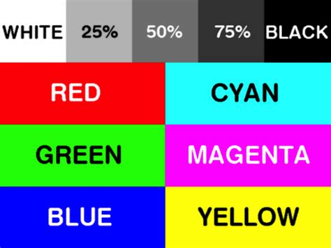 printer color test printing cmyk test labels irc inks refills chips