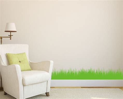 home wall wall grass diy home wall sticker wall decal