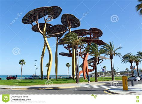 Dreams Palm Beach Resort by The Pine Tree Sculpture On The Seafront Promenade In La
