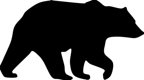 bear silhouette tattoo s mirror image so facing left grizzly