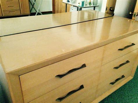 blonde dresser  nightstand  antique furniture collection