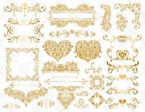 Shamrock Decorations Home gold leaf border clip art 20