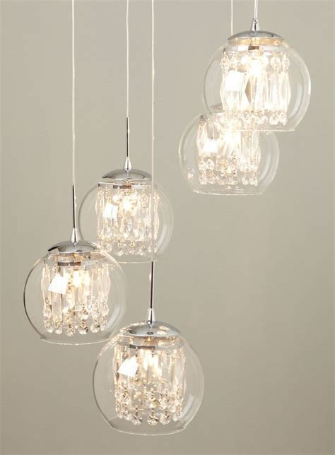 Glass & Crystal Spiral Pendant Chandelier   lighting   For