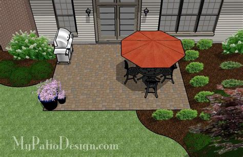 Easy Lay Patio by Diy Paver Patio Design Downloadable Plan Mypatiodesign