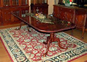 11pc mahogany dining room set chippendale china buffet ebay