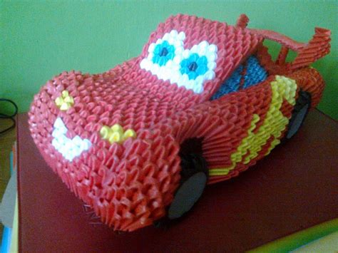 Origami 3d - 3d origami zig zag car by marcin 3d origami