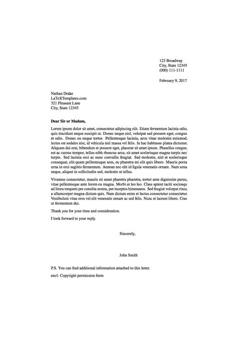 letter layout latex correct letter layout letters free sle letters