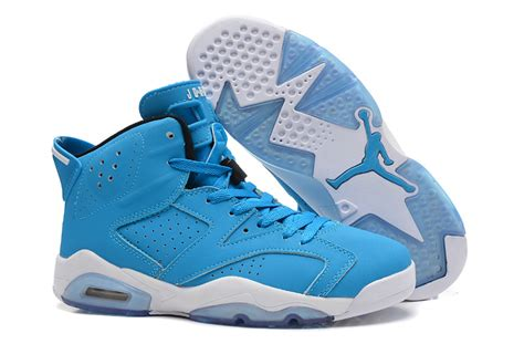light blue air jordans air 6 vi retro black white for sale