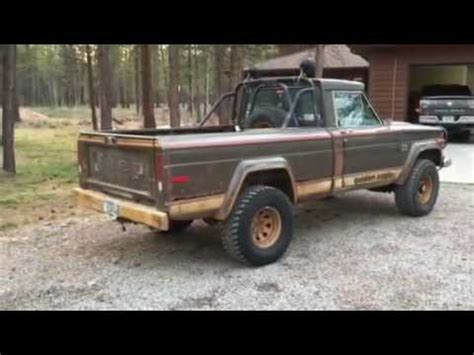 jeep j10 golden eagle 1977 jeep j10 golden eagle exhaust youtube