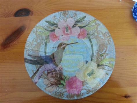 Decoupage Glass Plate - decoupage glass plate decoupage