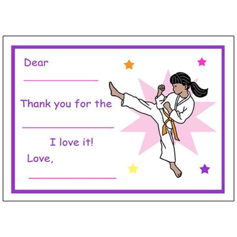 thank you letter to karate martial arts or karate kid stickers mandys