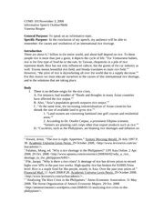 Informative Speech Outline Award Speech Outline