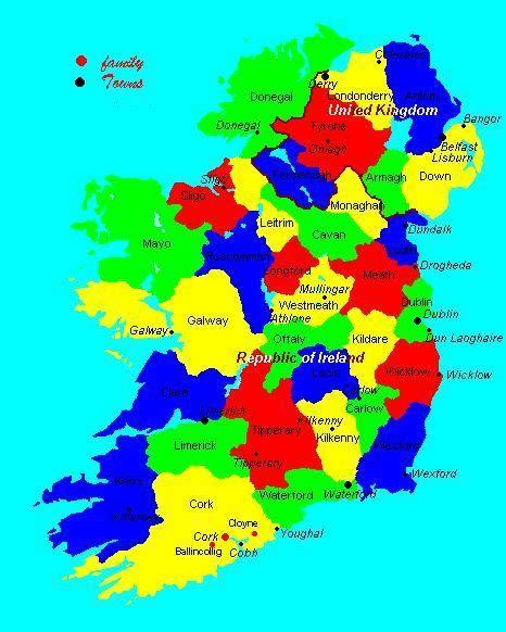 county cork ireland map chalmers family cork ireland map