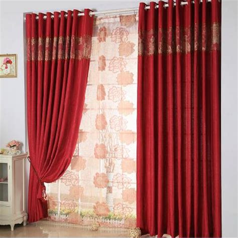 thick red curtains aliexpress com buy high grade pure wedding thick gauze