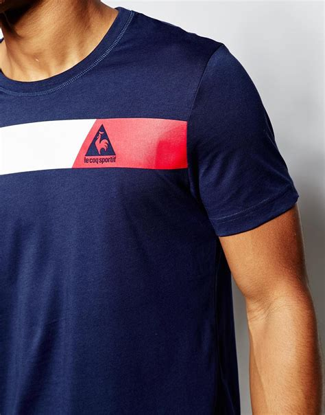 Kaos Le Coq Sportt Shirt le coq sportif logo t shirt white blue in blue for lyst