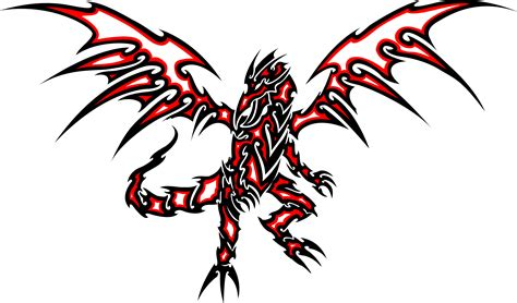red and black dragon tattoo red eyes black dragon clipart